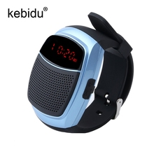 Smart Sports Bluetooth Speaker Hands-free Call TF Card Playing FM Radio Self-timer Wireless Speakers Smart Watch Time Display(China)