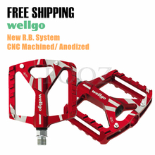 Wellgo B130 MTB Road / Trekking / City Bike bicycle Pedal 2 DU Bearing Pedal(China)