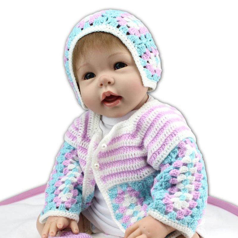 New Arrival 50-55cm Handmade Silicone Reborn Baby Doll Soft Touch Body Toys Lifelike Beauty Clothes Dolls Reborn Doll Best Gift<br><br>Aliexpress