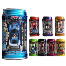 Original 7 Colors Coke Can Mini Speed RC Radio Remote Control Micro Racing Car Toy with Road Blocks RC Toys Kid's Toys Gifts