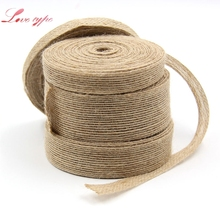 Buy 10M Natura Jute Burlap Rolls Hessian Ribbon Lace Rustic Vintage Home Garden Wedding Decoration DIY Ornament Burlap Supplies for $1.84 in AliExpress store