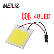 Car lights C5W cob 48 SMD chip white reading lights led T10 bulbs led parking lot car interior panel lights car led Car-styling