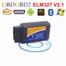 2017 ELM327 Bluetooth V2.1 OBD2 Car Diagnostic Tool Interface ELM 327 Bluetooth For Android/Symbian/PC OBDII Protocols ELM327