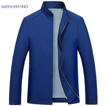 Mu Yuan Yang 2017 Spring and Autumn 50% Off Men Jacket Business Casual Jackets And Coats Turn-down Collar Men' s Jacket XXL XXXL(China)