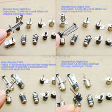 NEW 5pcs each of 10 types 50pcs totally 4 Wire 2 Phase dc micro stepper motor Mini stepper motor Assorted box free shiping