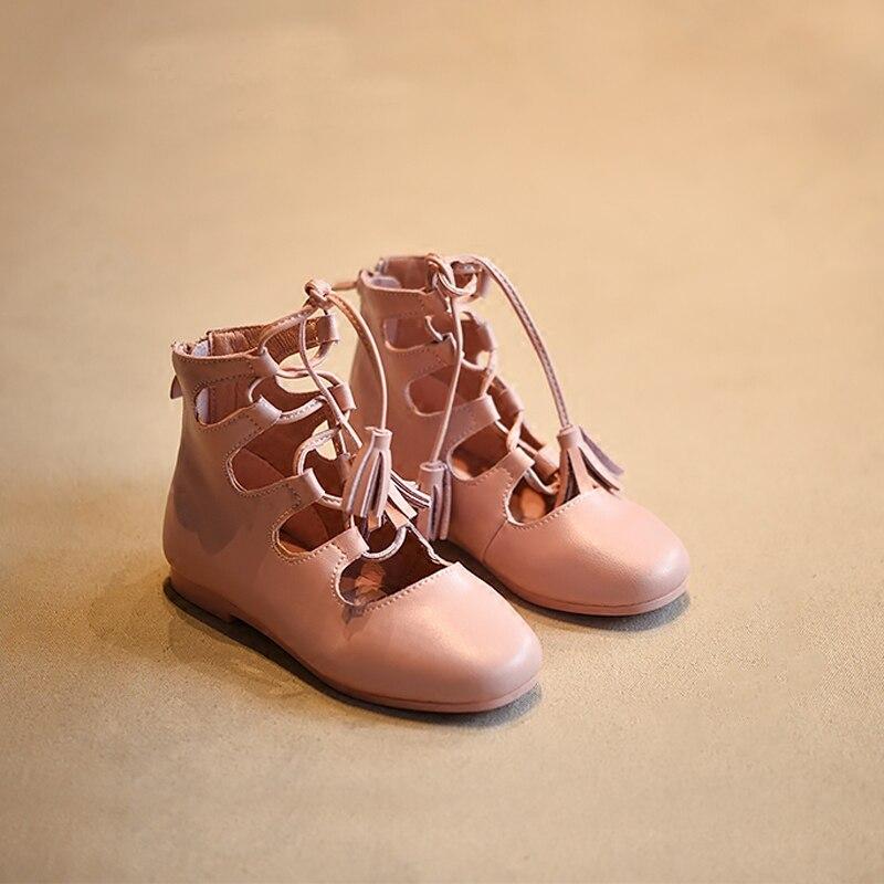 2017 fashion summer shoes tassel fringe sandals for girl ankle high-top princess shoe dress holiday toe cap sandal<br><br>Aliexpress