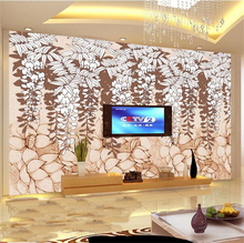 custom 3d photo wallpapers non-woven room murals tree flower 3D painting HD photo Sofa bar TV background wallpaper for wall 3d