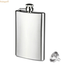 Saingace 10oz Stainless Steel Pocket Hip Flask Alcohol Whiskey Liquor Screw Cap quality first