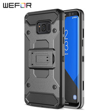 Case For Samsung Galaxy S8 S8 Plus Rugged Armor Shockproof Phone Cases for Galaxy S8 Stand Shell Belt Clip Holster Protect Cover(China)
