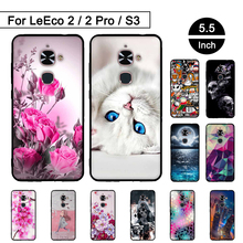 3D Relief Soft TPU Case For Letv Le 2 2 Pro X527 X620 Silicon Cover For LeEco Le Eco S3 Back Phone Cases Painted Pattern Shells(China)
