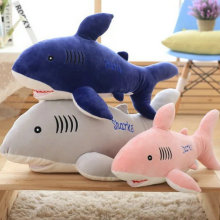 2017 New plush animals 55-85cm Blue Shark Plush Toys soft goat Fish Cloth plush Doll Stuffed Christmas present For Baby gift(China)