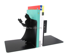 Free Shipping 1Set Cool Batman Personalized Bookstand Figurines Iron Black Cartoon Characters Book end Batman Bookends