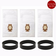 3pcs Kirby Universal Bag suitable + 3 Belts for Kirby Universal Hepa Cloth Microfiber dust Bags for KIRBY Sentrial F/T 204808(China)