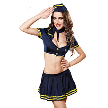 Buy Women Erotic Apparel Porn Dress Sexy Hot Erotic Costumes Occupational Cosplay Clothes Stewardess Uniform Fantasia Sexual