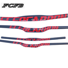 FCFB 3k carbon handlebar mountain bike bicycles handlebaer 31.8*600/620/660/680/700/720/740/760mm cycling parts rise flat bar(China)