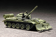 TRUMPETER  07284   1/72  T-55 with BTU-55   Assembly Model kits scale model  3D puzzle vehicle model