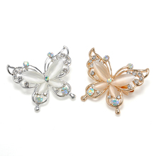 Fashion Women Crystal Rhinestone Butterfly Brooch Pin Jewelry Gold/Silver Plated 2 Color