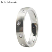 2016 New 316L stainless steel mechanical ring ladies cz wedding silver metal rings