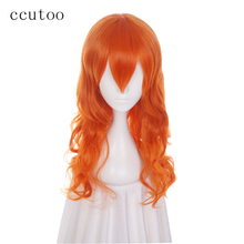 ccutoo 65cm Nami Orange Curly Long M Shape Hairstyles Synthetic Wig For Women's Cosplay Wig Heat Resistance Party Costume Wigs(China)
