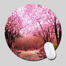 Cherry Blossom Park 00Ps 2016 Round Gaming Mouse Mats Mice Pad for Size 200*200*2mm