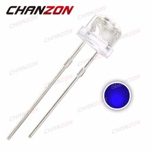 100pcs 5mm Straw Hat Blue LED Diode Water Clear 5 mm High Brightness Transparent Light Emitting Diode LED Lamp DC 3V 20mA(China)