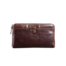 Genuine Leather Fashion Brand Men Wallet Multi - Card Wallet Men Holding Buckle Wallet High Capacity Men 's Wallet