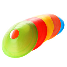 1pc Football Rugby Sport Cross Training Space Marker Soccer Ball Disc Cone Saucer Equipment Soccer Marking Outdoor 5 Colors NEW