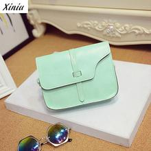 Xiniu Women Messenger Bags Small Size Gap Strap Bag Women Solid Candy Color Crossbody Bags For Women Bolso Mujer #1108