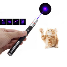 Creative Funny Pet Cat Toys Purple Laser Pointer Portable 5mw Laser Pen Powerful Astronomy Lazer Pointers Pens without battery(China)