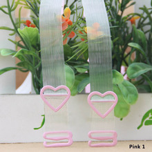 1Pair High Elastic Wide Transparent Bra Straps Women Female Invisible Bra Straps Cute Heart Shape Intimates Bra Accessories New(China)