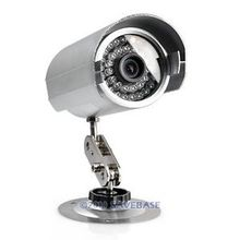 "HOMSECUR Aluminum Alloy CCTV Camera 1/3"" CCD +Holder + BNC + CCTV Power Adapter + 5M Video/Power Cable For 9"" Video Door Phone"