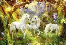 New Arrival Thomas Kinkade painting reproduction giclee prints unicorn picture high quality canvas art(China)