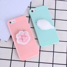 For iPhone 5 5S SE Case Lovely 3D Silicone Cartoon Cute Sea Lion Soft Squishy Candy Color Phone Case For iPhone 6 6S 7 7 Plus