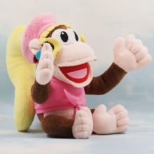 6Pcs/lot  Cute Super Mario Bros Dixie Kong Plush Dolls Toy 18cm New diddy kong sister Free Shipping