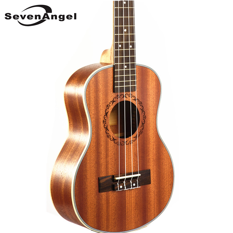 SevenAngel Brand 23 Ukulele Mini Hawaiian Guitar Rosewood Fretboard 4 strings Mahogany Electric Ukulele with Pickup EQ Uke<br>