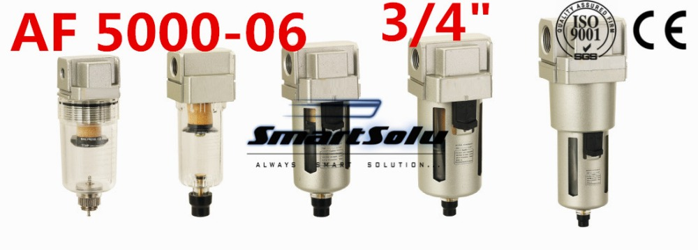 Free Shipping AF Series 3/4 Port Size Pneumatic Air Filter AF5000-06, Type 3/4 Inch Air Source Treatment Units , Air System<br>