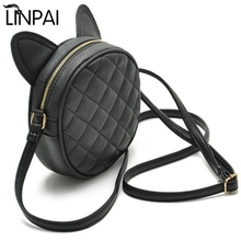 Dropshipping Women Bag Fashion Messenger Bags Cat Ear Female Crossbody Shoulder Bag High Quality Qrid Women Handbag For Girl(China)