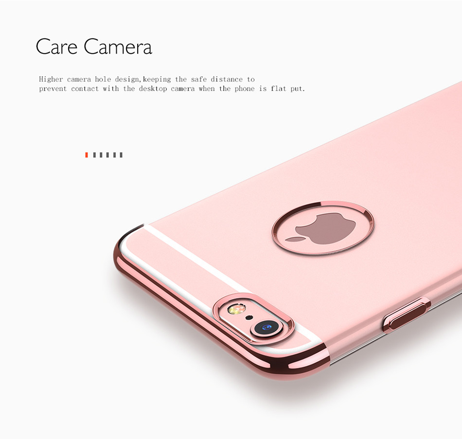 FLOVEME Transparent Phone Case For iPhone 7 6 6S Plus Ultra Thin TPU Bright Cover For iPhone 6 6 Plus Clear Case Accessories