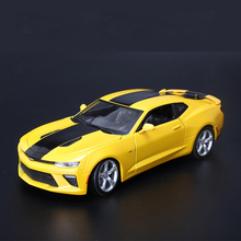 1:18 Scale maisto 2016 Chevrolet camaro SS Sports Car Transformers Hornets metal Diecast collectible Alloy models cars toys kids