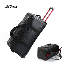 Letrend New Fashion 30 inch High-capacity Rolling Luggage Set Business Travel Bag Checked luggage Trolley Men Trunk Suitcase