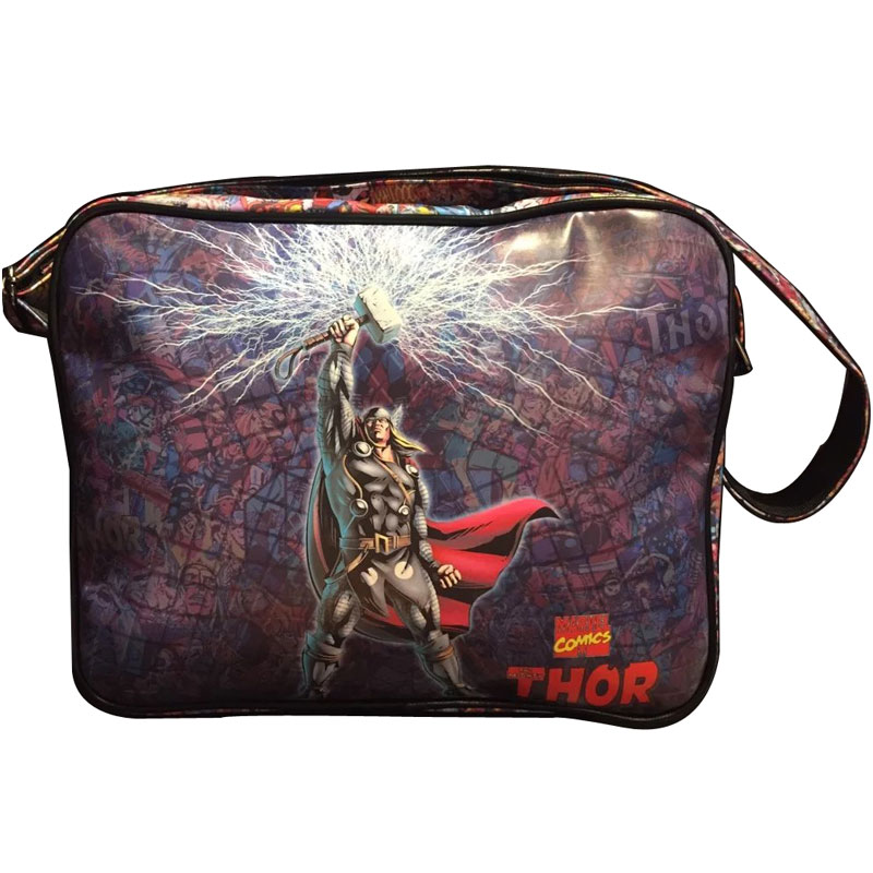 DC Marvel Comics Thor Messenger Bag Cartoon Anime Super Hero Leather Bags for Boy Girl Students Fashion Casual Messenger Bags<br><br>Aliexpress
