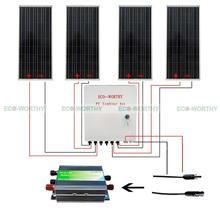 400W 4x 100W 12V Solar Panel Power & 45A PWM Charge Controller for Home System Solar Generators