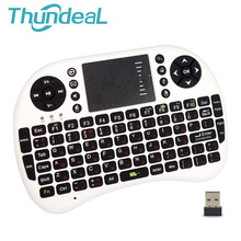 UKB 500RF Russian and English Teclado Mini Wireless Keyboard Mouse With Touch Pad Air Mouse Gaming Remote Control Auto Touchpad