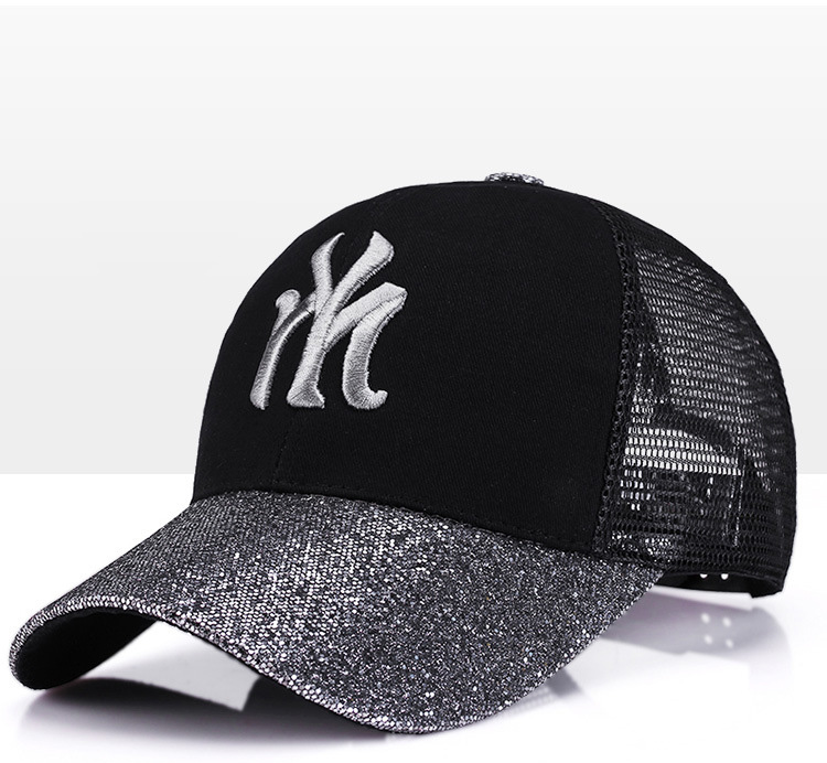 [Rancyword] 17 New Branded Baseball Caps Canada Women's Cap With Mesh Bone Hip Hop Lady Embroidery Hats Sequins RC1134 6