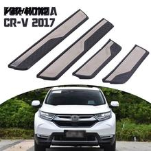 VEHEMO 4Pcs Automobile Door Sill Trim Strip Cover Welcome Pedal Car Styling Paint Protector Guard For Honda CRV Stainless Steel