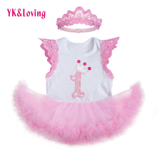 Light Pink Tutu Dress Baby Girls Clothing with Embroidery Cute Mesh Dresses 1st Birthday Gift  Newborn Toddler Clothing  Newest