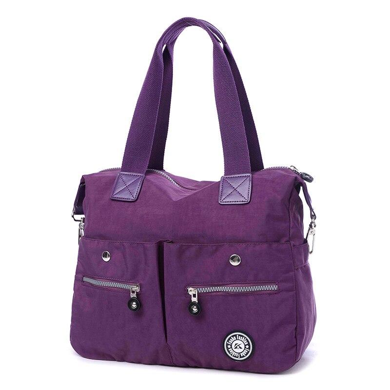 Light big capacity oxford fabric waterproof brief womens handbag casual handbag water wash cloth bags autumn and winter travel<br>
