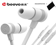 Original BEEVO BH001 in-ear earphones Stereo Bass headset with Mic for iPhone samsung xiaomi mi mix redmi mi5 huawei phone mp3