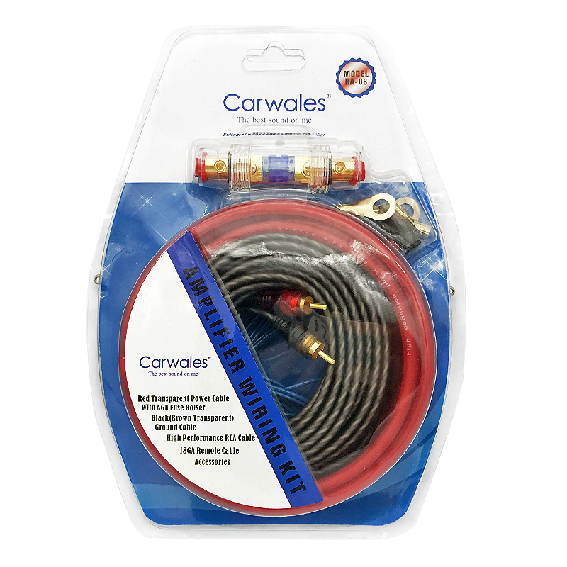 Car Audio Wire RCA Amplifier Subwoofer Cable Speaker Wire Kit(10GA ...