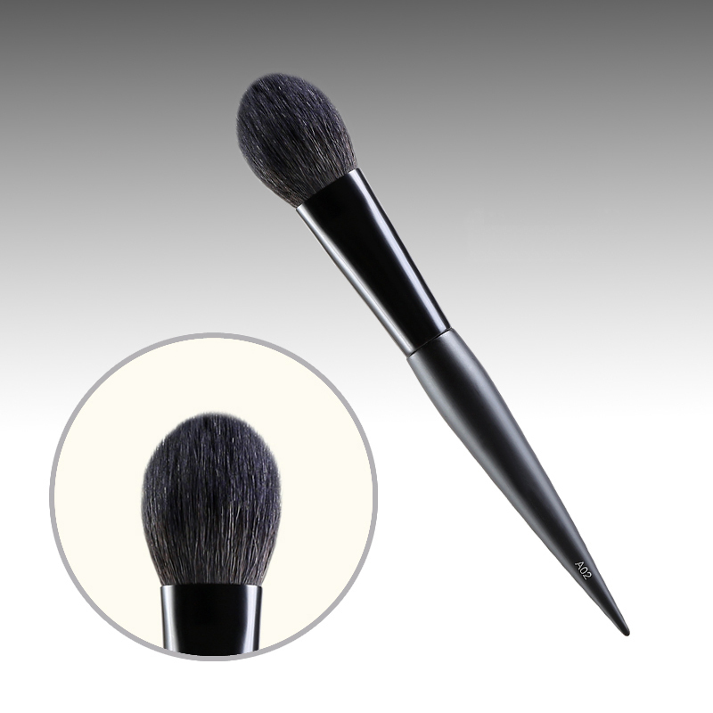 A02 Professional Makeup Brushes Squirrel Hair Sokouhou Goat Hair Blush Blusher Brush Black Handle Cosmetic Tools Make Up Brush<br>